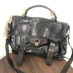 Proenza Schouler black leather bag